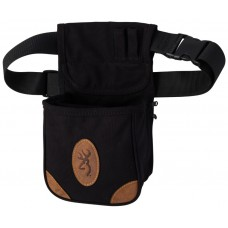 Browning Lona Canvas/Leather Shell Pouch, Black