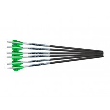 "Excalibur Proflight 18"" Flat Black Arrows - 6 Pack"