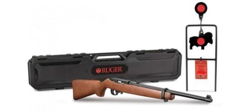 "Ruger 10/22 Carbine with Hardcase & Steel Target .22LR 18.5"" Barrel Semi Auto Rimfire Rifle"