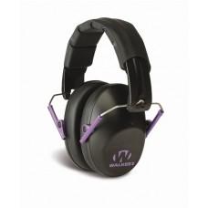 Walker's Pro Low Profile Passive Folding Purple Accent Ear Muffs